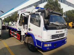 dongfeng 4tons flatbed wrecker tow truck